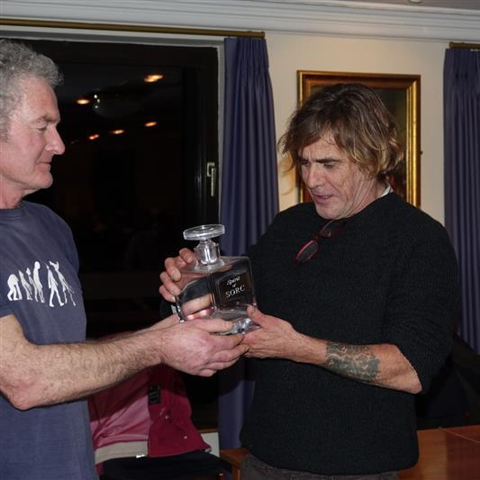 Neil Paytor is presented the Spirit of SORC award