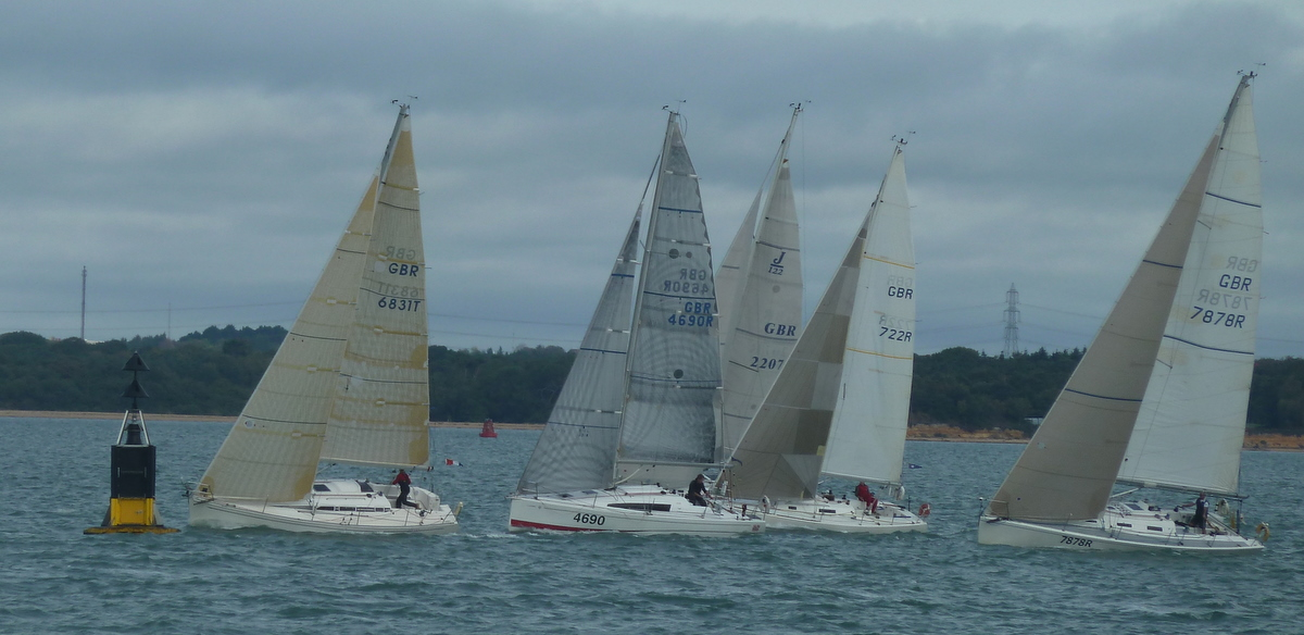 The start of a SORC inshore series race